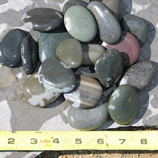 wet mexican beach pebbles
